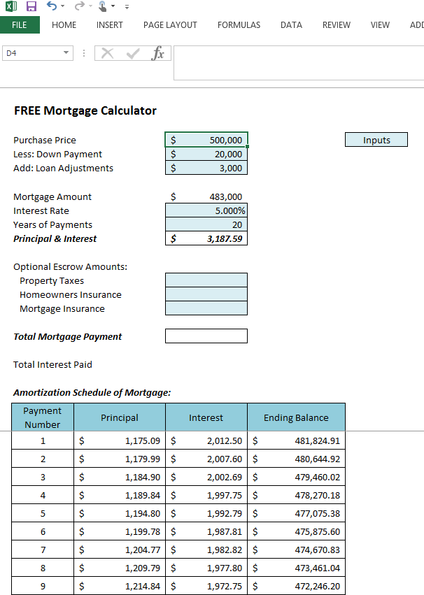 excel mortgage amortization table download 7 amortization schedule calculator excel flyer. Black Bedroom Furniture Sets. Home Design Ideas