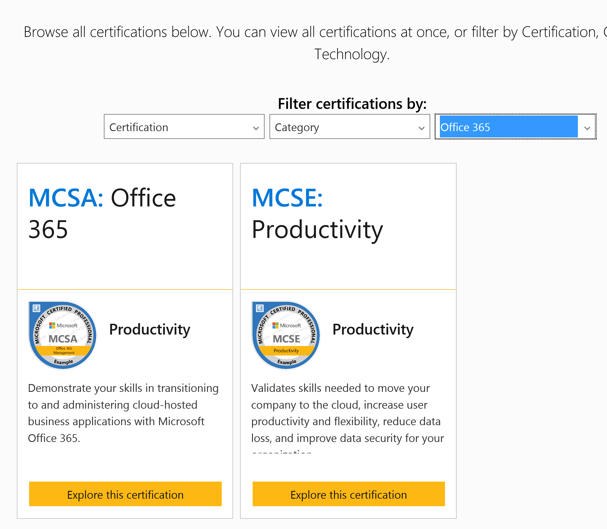Microsoft excel certifications microsoft certifications 1betcityfo Images